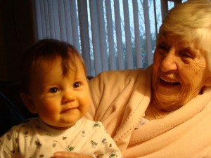 Xander and Great Granny Goose