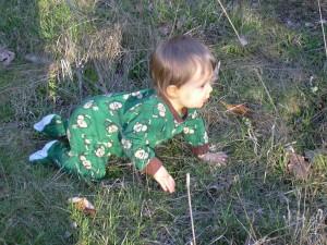 Xander crawling