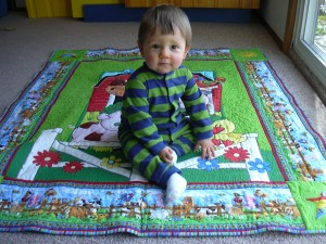 Xander and quilt